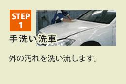 STEP1 洗車 外の汚れを洗い流します。