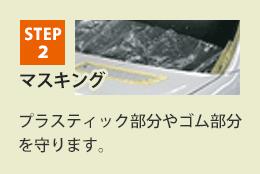 STEP2 マスキング プラスチック部分やゴム部分を守ります。